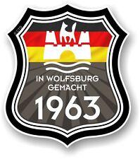 In Wolfsburg gemacht 1963 MADE IN WOLFSBURG Scudo Per VW Camper Van Auto Adesivo