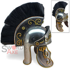 Roman Centurion Officers Galea Helmet Forged 18G Carbon Steel Hair Plume