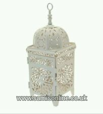 Moroccan Arabian Table Lantern Cream Candle Holder Wedding Decor 27cm EID GIFT