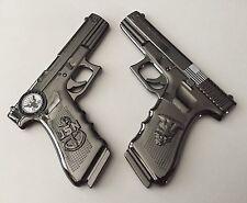 USN NAVY CHIEF CPO GLOCK GUN PISTOL CHALLENGE COIN SKULL NON POLICE NYPD SEALS !