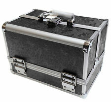 Black Aluminium Rose Beauty Box Cosmetic Make Up Vanity Salon Case Storage Bag