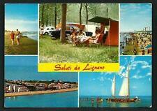 Lignano Sabbiadoro ( Udine ) : Campeggio -  cartolina viaggiata nel 1975