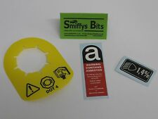 Rover Mini DOT 4 Brake Servo Tag, Asbestos, Light Dip Set