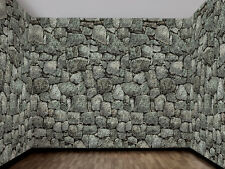 Stone Wall Backdrop Dungeon Decor Halloween Decoration Prop NEW 100 Feet Long