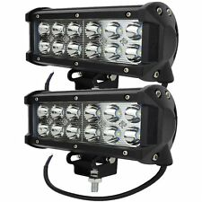 2 X 36W LED WORK LIGHT BAR FLOOD SPOT BEAM OFFROAD UTE TRUCK 12V 24V 3600LM QT