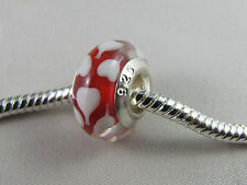 925 STAMPED SINGLE CORE RED MURANO BEADS EUROPEAN STYLE CHARM BRACELETS (SC 019)
