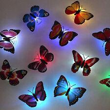 Regalo Juguete LED Noche Luz Color Cambiando Casa Mariposa Lampara 1PC