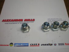 "Hydraulic Hose Adaptor Coupler Fitting 3/8"" BSP Male Bung Plug 4pk Hydraulics"