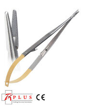 Dental Castroviejo Needle Holder, with serrated tungsten carbide tip