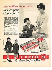 PUBLICITE ADVERTISING  1959   CHOCO BN  biscuits au chocolat