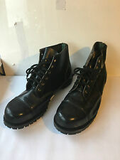 GETTA GRIP MENS BLACK LEATHER HEAVY DUTY ANKLE BOOTS UK 14 GENTS STEEL TOE  (F4