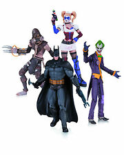 Dc Batman Arkham Asylum 4 Pack Scarecrow Batman Harley Quinn Joker Collectibles