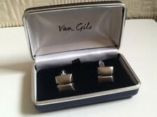 Van Gils Mans SILVER PLATED GEMELLI BOXED