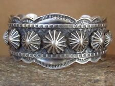 Navajo Indian Jewelry Hand Stamped Sterling Silver Bracelet by Tillie Jon!