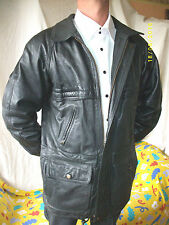 "TB VESTE blazer CUIR  ""IN EXTENSO"" T-M  LEATHER JACKET VINTAGE"