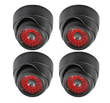 4 PACK Indoor Dummy Fake Black Dome Security Camera Cameras,30 Illuminating LEDs