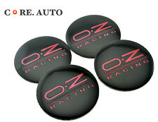 4PC 56mm O.Z RACING  Black Wheel Centre Caps  Sticker Badge Fit Fabia Yeti