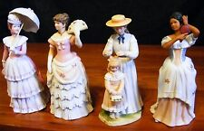 4 HOMCO VICTORIAN LADY FIGURINES LOT # 1431 # 1421 # 1478 & #1431 EXCE FREE SHIP