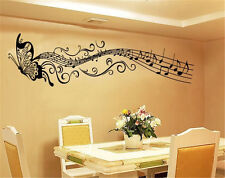 Home Decor Wall Room Butterfly Music Notes Removable Decal Sticker Art Mural