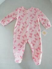 Juicy Couture Infant Baby Girl's Blanket Fleece Footed Sleeper Pajama's 3/6M New