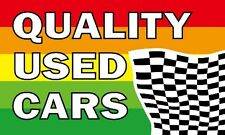 QUALITY USED CARS FLAG 5' x 3' Advertise Car For Sale Van Vehicle Sales