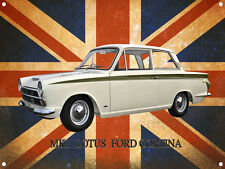 CLASSIC BRITISH FORD LOTUS CORTINA METAL SIGN