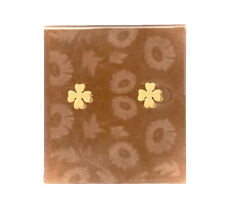 NEW WOMEN'S CLOVER STUDS STUD EARRINGS BRAND NOT STATED GOLD TONED .