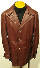 vintage 70's men's SEARS oxblood leather jacket coat fight club rocker pimp L/XL