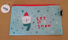 LOQI Christmas Zip Pocket Let It Snow - beauty