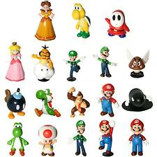 "Super Mario Bros 1~2.5"" Lot 18 pcs Action Figure Doll Playset Figurine Gift PHNG"