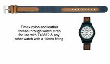 Genuine Leather/Nylon - Timex Expedition Thread-Through Watch Strap - T43872