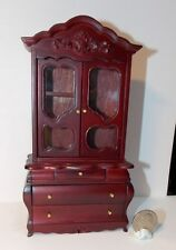Dollhouse Miniature Fancy Victorian Display Cabinet  1:12  one inch scale T3 D72