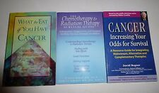 Lot of 3 Cancer Books, Increasing Your Odds for Survival, What to eat,Chemo/Radi