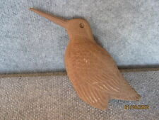 Rare Loon Lake Decoy WoodCock Sculpture un-painted