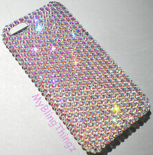 CRYSTAL AB Rhinestone Diamond Bling Back Case for iPhone 5 S w/Swarovski Element