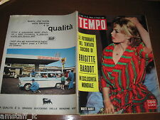 RIVISTA TEMPO 1960/42=BRIGITTE BARDOT=JOHN BARRYMORE=LIZ TAYLOR=PUBBLICITA' AGIP