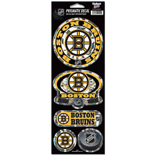 """BOSTON BRUINS OFFICIAL 10.5"""" X 4"""" PRISMATIC DECAL SET BRAND NEW FREE SHIPPING"""