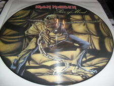 IRON MAIDEN -PIECE OF MIND- AWESOME RARE LTD PICTURE LP PRO EMI UK METALLICA