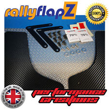 rallyflapZ to fit FORD FOCUS RS MK2 (09-11) Mud Flaps 4mm PVC Carbon Fibre Wrap