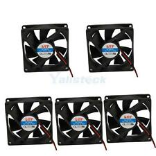 Lot 5pcs 3 Pins 80mm Chassis Crystal Fan Silent fan cooling system PC Black