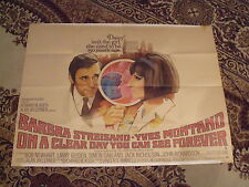 On A Clear Day You Can See Forever ' Original UK Quad (1970) BARBRA  STREISAND '