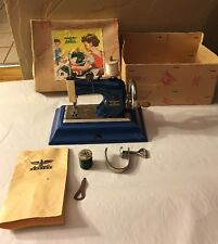 Vintage 1940's Casige Gesch. M.1470 Blue Toy Sewing Machine Germany British Zone