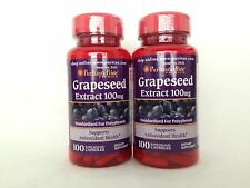 2 Puritan's Pride  Grapeseed Extract 100 mg *** Supports Antioxidant Health ***