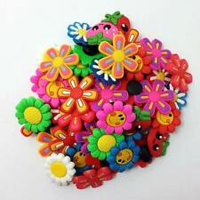 50pcs Flower A Shoe Charms Decoration For CRoc & Jibbitz Bracelets Kids Gifts