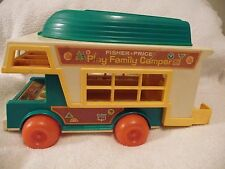 Vintage Fisher Price #994 Play Family Camper With Accessories