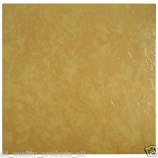 60 x Vinyl Floor Tiles - Self Adhesive - Bathroom Kitchen BN - Orange Marble 197