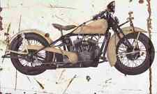 Indian Scout 1932 Aged Vintage Photo Print A4 Retro poster