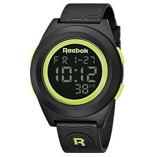 Reebok Men's Di-R Block Party Digital Watch Black with Yellow