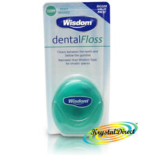 Wisdom Dental Floss Waxed Mint 100m