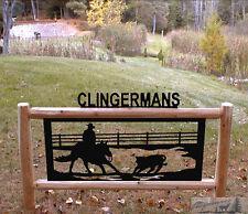 CUTTING HORSE-HORSES-CLINGERMANS EQUESTRIAN SIGNS-RODEO  #HORSE 15323-2 D24-D25